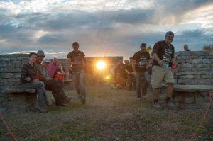 PHOTO - Sun Bursting Through Cross - Wallers running